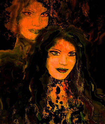 Women Together Mixed Media - Sweethearts by Natalie Holland
