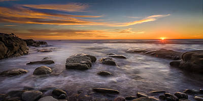 Wind Photograph - Swell Sunset by Peter Tellone