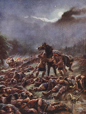 Viking Drawing - Sweyns Poisoned Army, Illustration by Henry A. Payne