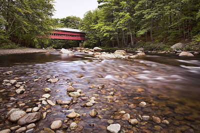 North Conway Photograph - Swift River Bridge by Eric Gendron
