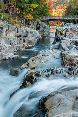 New Hampshire Autumn Photograph - Swift River - Rocky Gorge Overlook by Thomas Schoeller