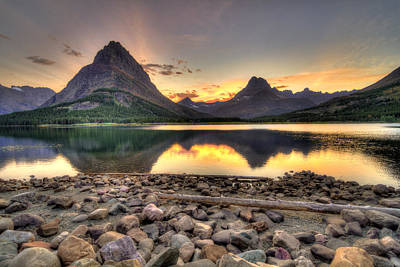Chris Martin Photograph - Swiftcurrent Lake by Chris Martin