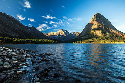 Trees Photograph - Swiftcurrent Lake by Todd Klassy