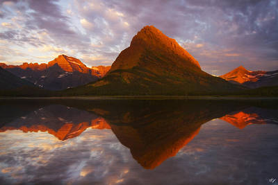Peter James Nature Photograph - Swiftcurrent Reflection by Peter Coskun