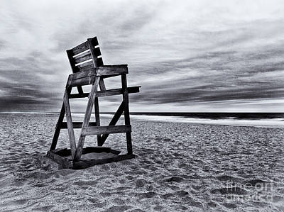 Empty Chairs Photograph - Swim At Your Own Risk by Mark Miller