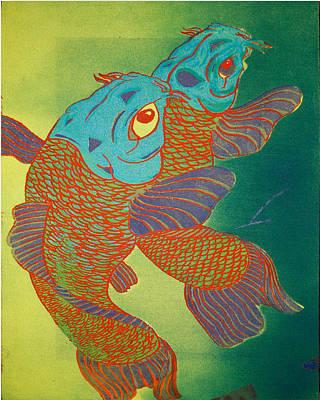 Swimming In A Green Sea Print by Trance Briguglio