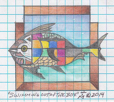 Graph Mixed Media - Swimming Out Of The Box by Artreats