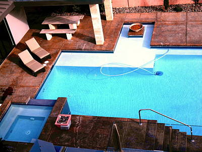 Hockney Painting - Swimming Pool by Dietmar Scherf