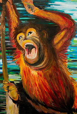 Shouting Painting - Swing Away by Ryanne Bevenger