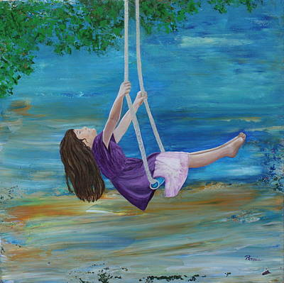 Swing Painting - Swing by Bonnie Lanzillotta