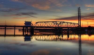 Swing Bridge Sunset Original by Steve Brooks