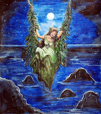 Swing In Moonlight Print by Saranya Haridasan