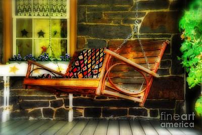 Swing Me Print by Lois Bryan