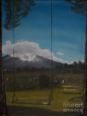Swing Painting - Swing On Mt Hoods Fruit Loop by Ian Donley