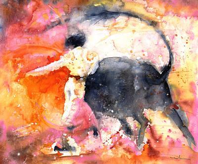 Spanish Matador Painting - Swinging Yellow And Pink by Miki De Goodaboom