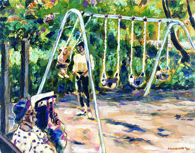 Swings Print by Faye Cummings