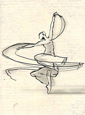 Swirl Print by H James Hoff