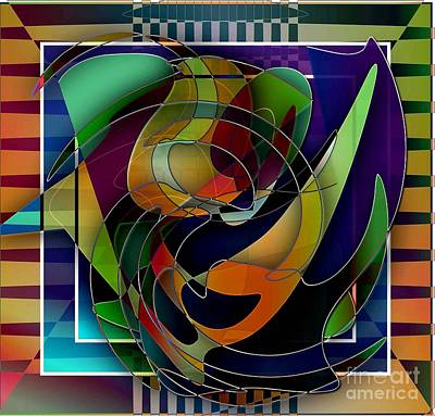 Abstract Shapes Drawing - Swirl by Iris Gelbart