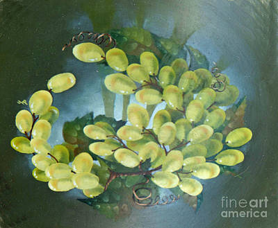 Grape Painting - Swirl Of Grapes by Doreta Y Boyd