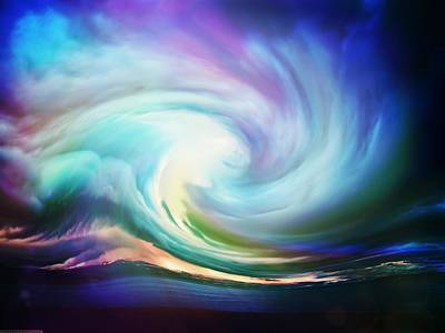 Iridescent Mixed Media - Swirl Of Sky by Lilia D