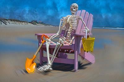 Human Skeleton Photograph - Swirling Sam by Betsy Knapp