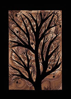 Swirling Sugar Maple Print by Barbara St Jean