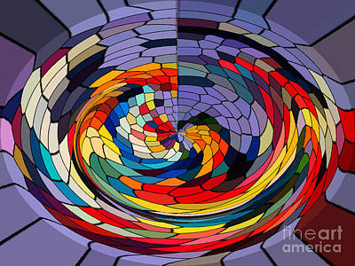 Swirls Print by Gabriele Mueller