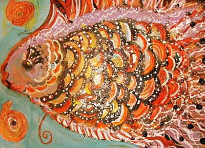 Swishy Fancy Fishy Print by Anne-Elizabeth Whiteway