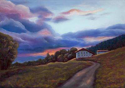 Swiss Clouds - La Ferme Des Endroits - La Chaux-de-fonds Original by Marie-Claire Dole