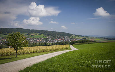 Color Photograph - Swiss Country Road by Ning Mosberger-Tang