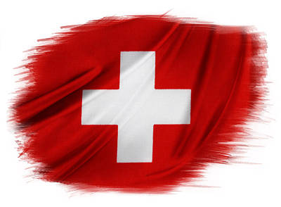 Paint Photograph - Swiss Flag by Les Cunliffe