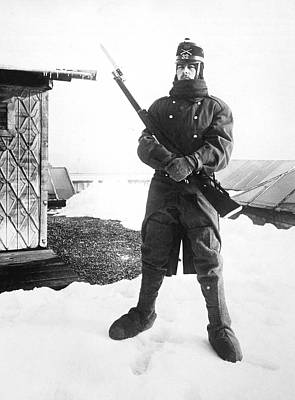 Sentry Photograph - Swiss In Armed Neutrality by Underwood Archives