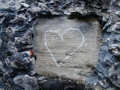 Swiss Love Heart Print by David and Mandy