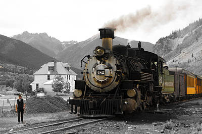 Colorado Photograph - Switching Yard by Calvin Davenport