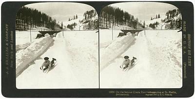 Winter Sports Painting - Switzerland Cresta Run by Granger