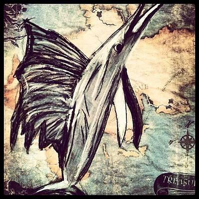 Swordfish Drawing - Swordfish by LeNae Goolsby