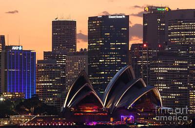 Sydney Skyline Photograph - Sydney At Sunset by Matteo Colombo
