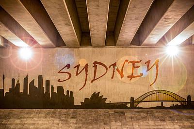 Sydney Skyline Photograph - Sydney Graffiti Skyline by Semmick Photo