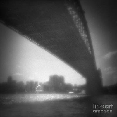 Pinhole Photograph - Sydney Harbour Bridge And North Sydney by Colin and Linda McKie