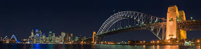 Sydney Skyline Photograph - Sydney Harbour Bridge by Georgia Fowler