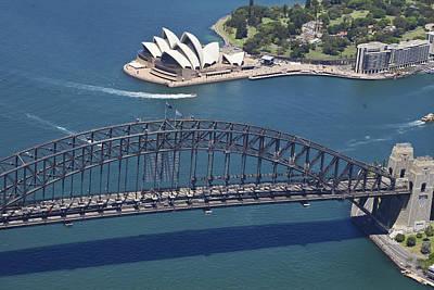 Bridge Photograph - Sydney Harbour Bridge, Sydney Opera by Brett Price