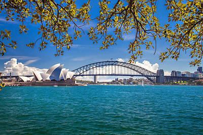 Sydney Harbour Skyline 2 Print by Az Jackson
