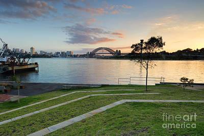 Sydney Harbour Sunrise From Balmain Print by Leah-Anne Thompson