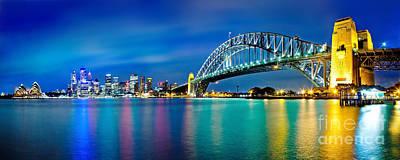 Sydney Icons Print by Az Jackson