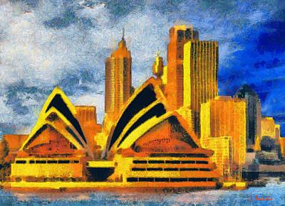 Australia Painting - Sydney Opera House by George Rossidis