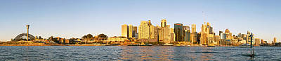 Sydney Panorama From Balmain Peninsula Print by Nicholas Blackwell