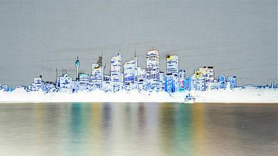 Sydney Skyline Digital Art - Sydney Skyline by Carlos Cano