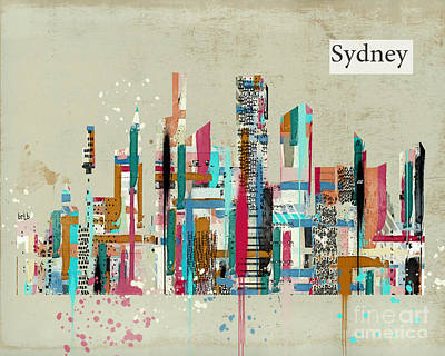 Australia Digital Art - Sydney Skyline  by Bri B