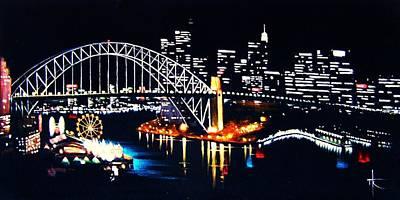 Sydney Skyline Painting - Sydney by Thomas Kolendra