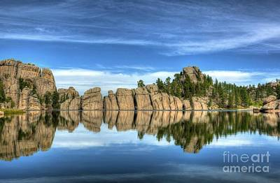 Sylvan Lake Reflections Print by Mel Steinhauer